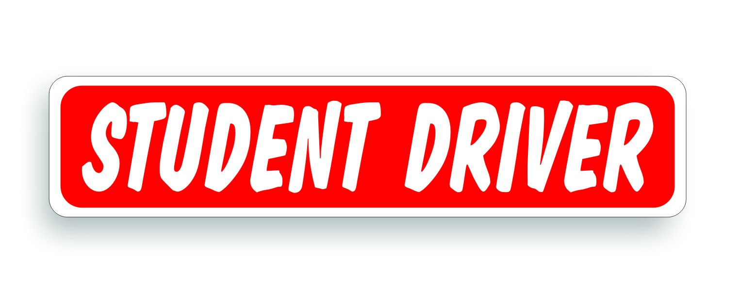 photograph about Student Driver Sign Printable called - Magnetic Signs or symptoms